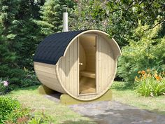 Sauna is the best place to relax and socialize with your family and friends. Our barrel saunas are manufactured in Estonia using slow growing Nordic Spruce. Saunas, Outdoor Sauna Kits, Backyard Guest Houses, Barrel Sauna, Sauna Heater, Hanging Wall Planters, Diy Hanging, Cabin Kits, Cabin Ideas
