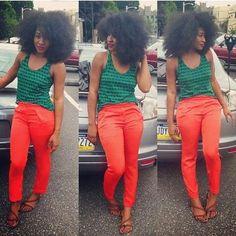 Fierce Summer Look - http://www.blackhairinformation.com/community/hairstyle-gallery/natural-hairstyles/fierce-summer-look/ #naturalhair #afro #summerstyle