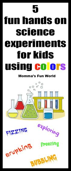5 (actually 7) color science experiments for kids.  Fizzing and bubbling goop science, magic rainbow snowballs, dancing powder kid science, rainbow ice volcano, rainbow shamrock science using kool-aid and water, volcano eggs - make them erupt over and over, ice art.  Great to use for Cub Scouts!