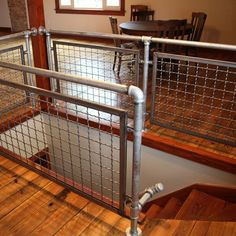 McAndrews Restoration – Plain Steel Woven Wire Mesh Interior Railing & Stairway … – How To Build A Fence