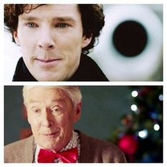 Like father, like son. I absolutely love that they had Benedict& real parents be Sherlock& parents in the show. Sherlock Holmes, Sherlock Fandom, Sherlock Otter, Sherlock Cast, Sherlock Quotes, Moriarty, John Watson, Johnlock, Tom Hiddleston