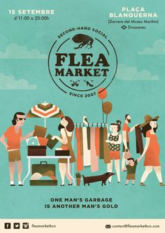 Flea Market Posters by Bea R Vaquero, via Behance