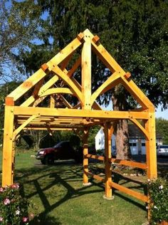 10u0027x16u0027 Timber Frame, A First For Me. Future Greenhouse. All