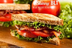 Weight Watchers BLT, a classic made lighter and healthier, perfect for a quick and easy lunch or supper with 247 calories and 6 Weight Watchers Points Plus