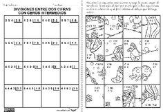 Ejercicios de division de dos cifras - Imagui Fractions, Destiny, Periodic Table, Classroom, Puzzle, Teaching, Homework, Fun Math Activities, Multiplication Tables