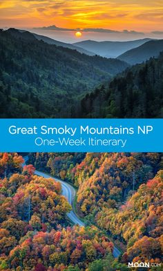 Smoky Mountain Trip Planner: One Week Itinerary Not sure where to go in the Smokies? This Great Smoky Mountains National Park trip planner lays out suggestions for how to spend a week in the park, and spend it well. Great Smoky Mountains, Smoky Mountains Tennessee, East Tennessee, Townsend Tennessee, Pigeon Forge Tennessee, Smoky Mountains Cabins, Nc Mountains, Blue Ridge Mountains, Trip Planner