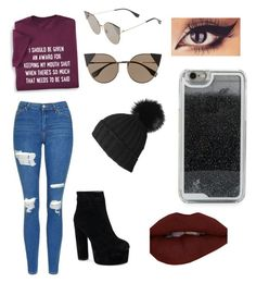 """""""Untitled #173"""" by justmekissy on Polyvore featuring Topshop, Fendi, LMNT and Black"""