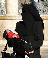 Woman in a niqab in Aleppo, Syria.
