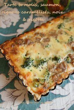 tarte brocolis saumon noix