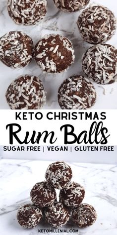 christmas cookies healthy Weihnachtspltzchen Best ever dairy free rum balls recipe. These gluten free rum balls and so delicious and easy to make. Try low carb, keto amp; vegan rum balls today for a healthy Christmas treat that everyone will love! Dairy Free Low Carb, Sugar Free Vegan, Dairy Free Keto Recipes, Healthy Recipes, Salad Recipes, Dessert Party, Keto Dessert Easy, Dessert Recipes, Recipes Dinner