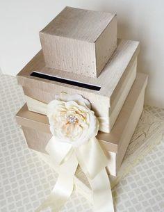 Wedding Card Box Money Gift Holder Champagne Ivory by LittleDivine Card Box Wedding, Diy Wedding, Dream Wedding, Wedding Ideas, Wedding Inspiration, Elegant Wedding, Wedding Stuff, Wedding Photos, Gift Card Boxes