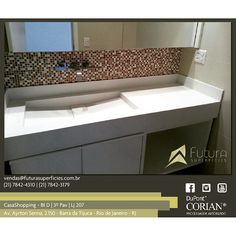 #corian #casashopping #futurasuperficies #banheiro #cubaesculpida #suitemaster