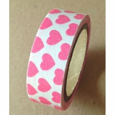 Washi Tape - Pink & White Hearts