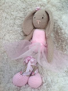 Amigurumi Crochet Ballerina Bunny Rabbit on Etsy, £15.99