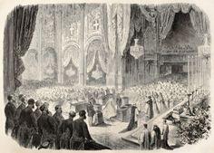Prince and Princess of Italy - 1868 Wedding. (Margherita of Savoy)  http://us.123rf.com/400wm/400/400/marzolino/marzolino1209/marzolino120904301/15418477-prince-et-la-princesse-margherita-umberto-mariage-dans-la-cathedrale-de-turin-en-italie-par-janet-la.jpg