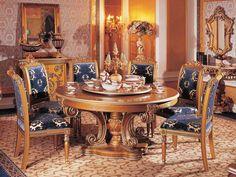 Italian Furniture - Riva Round Table Italian Dining Room Furniture