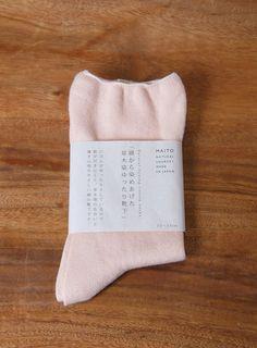 MAITO/草木染 綿ゆったりソックス ピンク 1680yen 原綿から染め上げた草木染のゆったりソックス