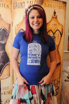 Wibbly Wobbly Timey Wimey Stuff  American Apparel by evietees, $20.50