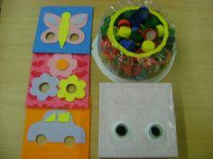 Дидактическое пособие «Цветные коврики для игр с пробками» Фото