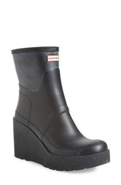 Hunter 'Original Short - Wedge' Rain Boot (Women) available at #Nordstrom
