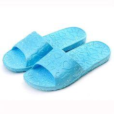 화려한 2017 여름 크기 37-41 여성 미끄럼 방지 사랑 인쇄 평면 목욕 슬리퍼 실내 및 야외 슬리퍼 신발 여성 뜨거운 판매