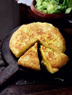 Potato Tortilla an incredible Spanish recipe from Rick Stein's Spain. A cheap, tasty and quick to make classic. http://thehappyfoodie.co.uk/recipes/potato-tortilla