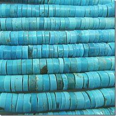 Turquoise Sleeping Beauty A heishi gemstone beads (S) 5.5 to 6mm: Wholesale, High Quality Gemstone Beads - Magpie Gemstones