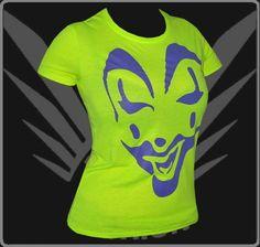 FancyBeast Neon Gelb Clubwear Shirt Damen Armlos T-Shirt Beach Strand Sonne