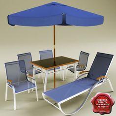 3d garden furniture model 3d model - Garden Furniture 3d