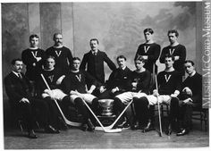 Victoria hockey team, Montreal, QC, copied 1898 Anonyme - Anonymous century Silver salts on glass - Gelatin dry plate process 12 x 17 cm Purchase from Associated Screen News Ltd. Team Photos, Hockey Teams, 19th Century, The Past, Montreal Qc, Victoria, Gelatin, Salts, History