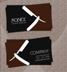 Barber Business Cards Pinterest And