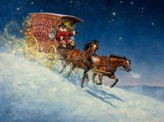 cowboy Santa on his way