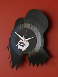 Wall clock vinyl record wall clock vinyl wall clock by Revinylit, $30.00