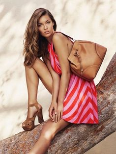 Model take bag for Guess Accessories spring summer 2016 campaign