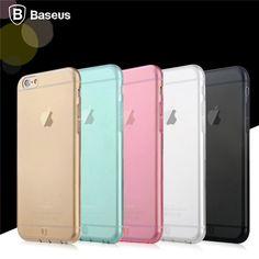 BASEUS 0.7mm Ultrathin Soft TPU Back Cover Case For Apple iPhone 6 6S 6 Plus 6S Plus