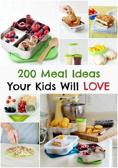 200+ Kid Friendly Meal Ideas - Easy breakfast, school lunch, snacks, smoothies, and treats! A Guide for Every Parent
