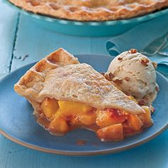 Brown Sugar-Cinnamon Peach Pie. Link to southern living's 50 best recipes for summer peaches