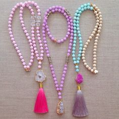 Spring Necklaces by LovesAffect on Etsy