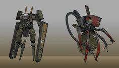 ArtStation - Robot Sketches, Ryan Gitter