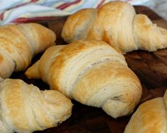 Easy method to make croissants from scratch.  Make fresh homemade croissants anytime you want!