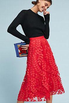 Botanical Lace Tulle Skirt