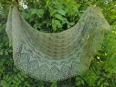 A Year of Diamonds Crescentshape Shawl shl58 by AlpachHandMade, $145.00