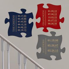 Fun Family History Painted Puzzle Piece