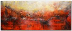 Original Abstract Painting, Contemporary Red Large Painting, Abstract Painting Textured ,Orange Red Painting by Andrada - 36x36, 2014 Painting by Andrada Anghel $1,800