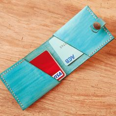 Handmade leather business card holder unique design wallet fashion  by UnimiStore