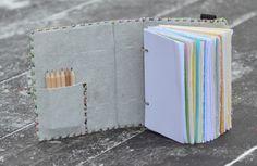Pastelky pro dospělé - zápisník v kůži A6