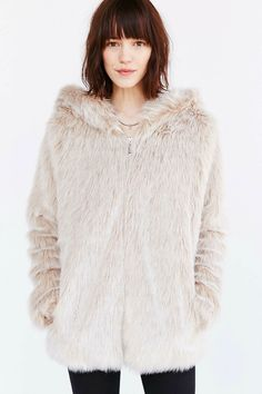 Faux Fur Jacket - Bl