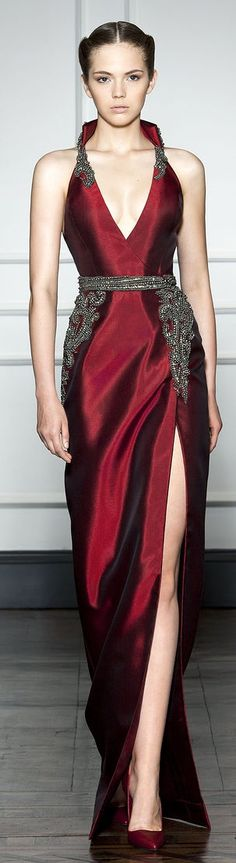 Cover that slit up and thisbwiukd be a most glamorous wedding gown. Dilek Hanif Couture F/W 2014-2015