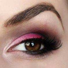 Pink eyeshadow for brown eyes
