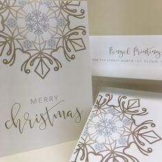 Custom Christmas cards designed and printed by Rengel Printing Company. Custom Christmas Cards, Holiday Cards, Merry, Printing, Invitations, Birthday, Design, Christian Christmas Cards, Birthdays